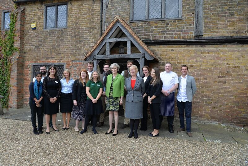 Lillibrooke Manor Hosts Prime Minister for Macmillan Coffee Morning